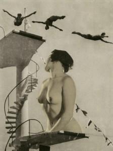 Sprungturm   Historische Fotomontage