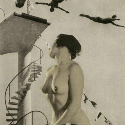 Sprungturm | Historische Fotomontage