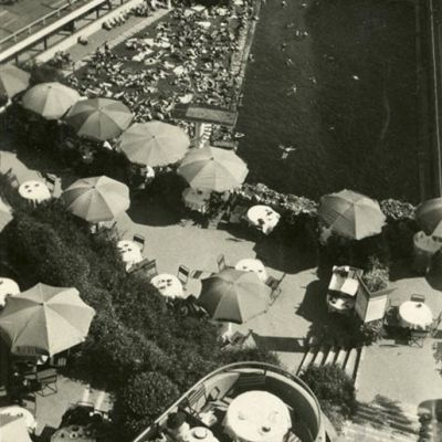 Sprungturm | Historische Postkarte