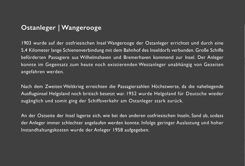 Ostanleger Wangerooge  // Konzept