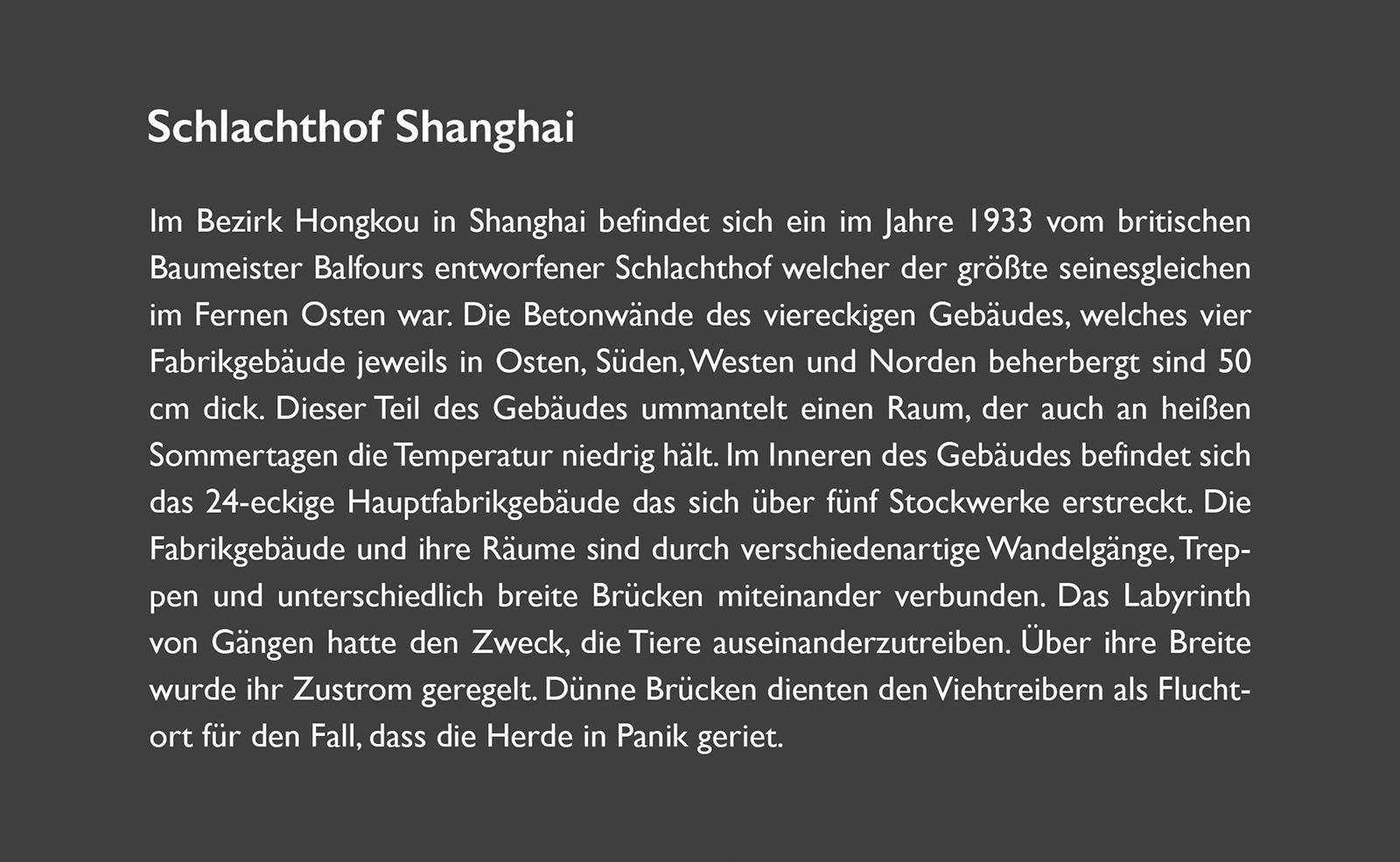 SCHLACHTHOF SHANGHAI