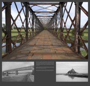 Pont de Bretagne à Pontaubault | Collage