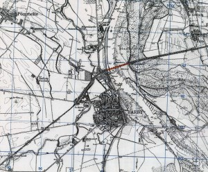 Elbbrücke Kanonenbahn | Historische Bahnkarte