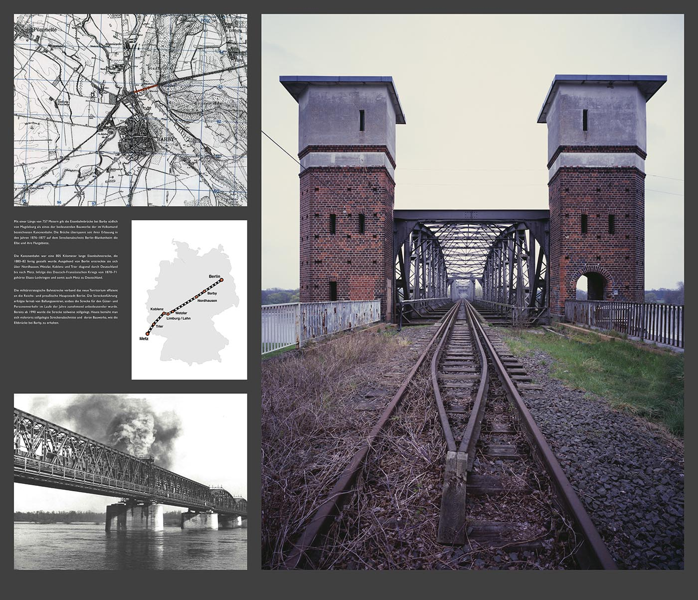 Kanonenbahn Barby |Collage