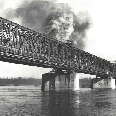 Elbbrücke Kanonenbahn | Historisches Foto