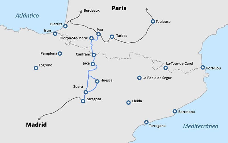 Canfranc | Streckenverlauf