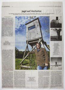Helmut Giersiefen | Presse | Jagd auf Hochsitze | SZ 24.10.2020